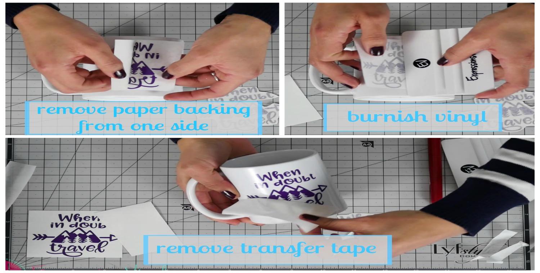 Applying Adhesive VInyl on a Mug - Expressions Vinyl