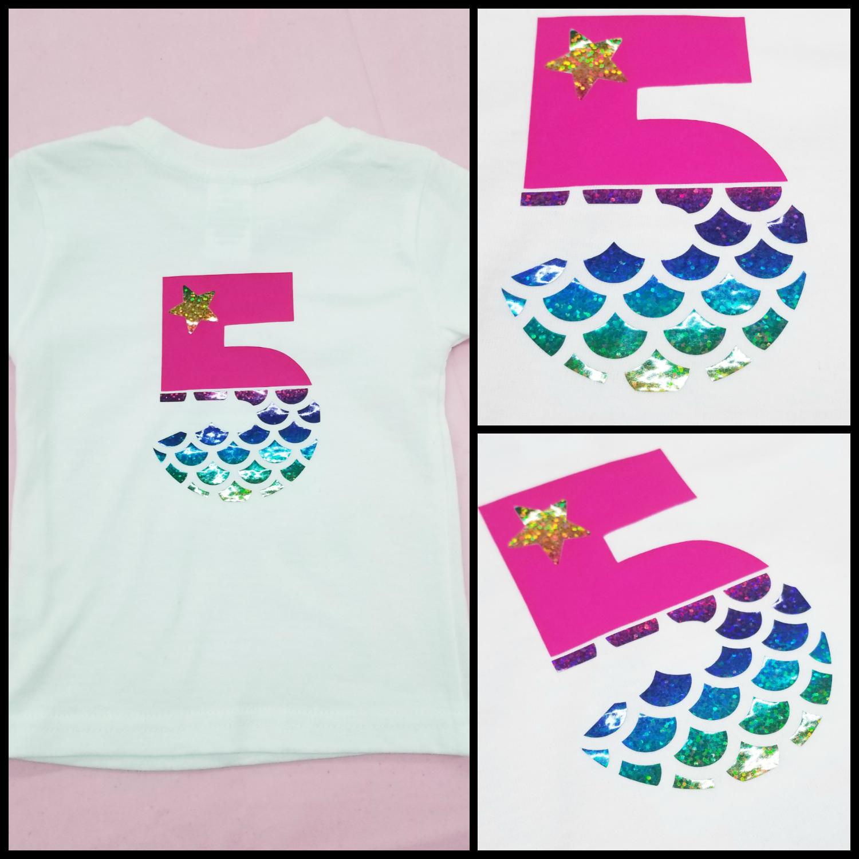 Mermaid Numbers Mermaid Party Shirt