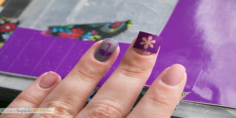 Using Vinyl Scraps to Make Nail Decals - Expressions Vinyl