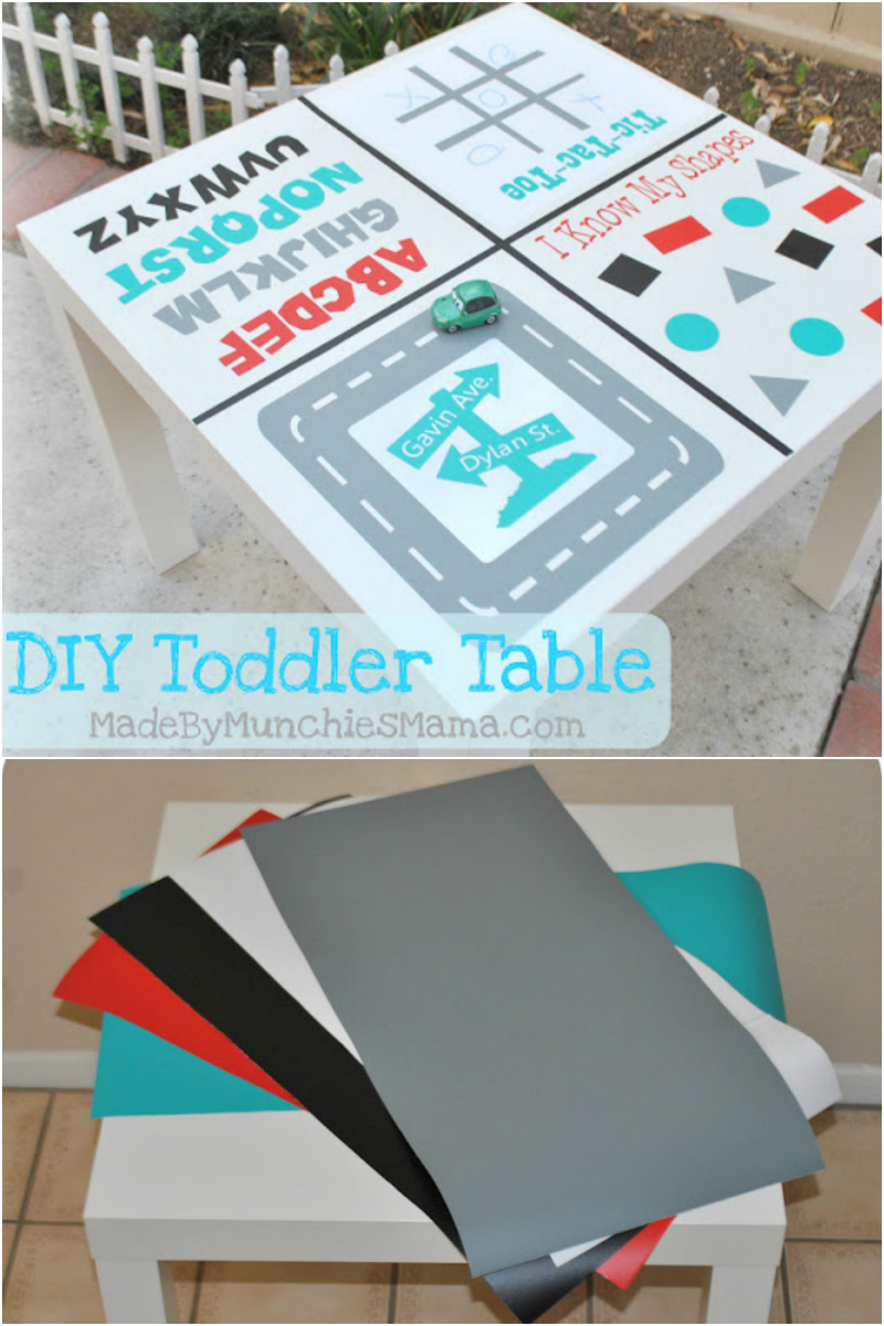 Diy Toddler Activity Table Expressions Vinyl
